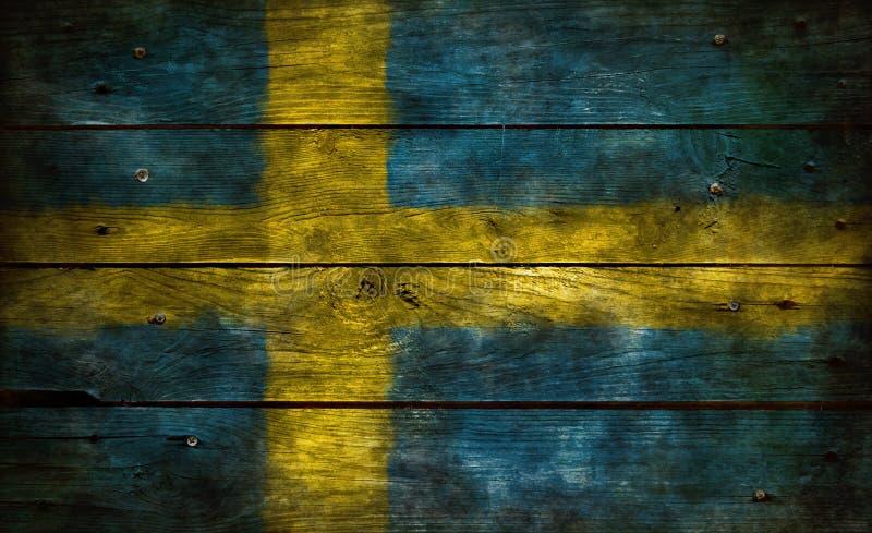 Vlag van Zweden stock fotografie