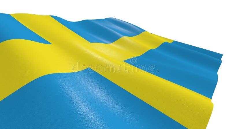 Vlag van Zweden stock illustratie
