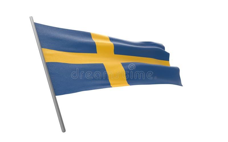 Vlag van Zweden stock foto