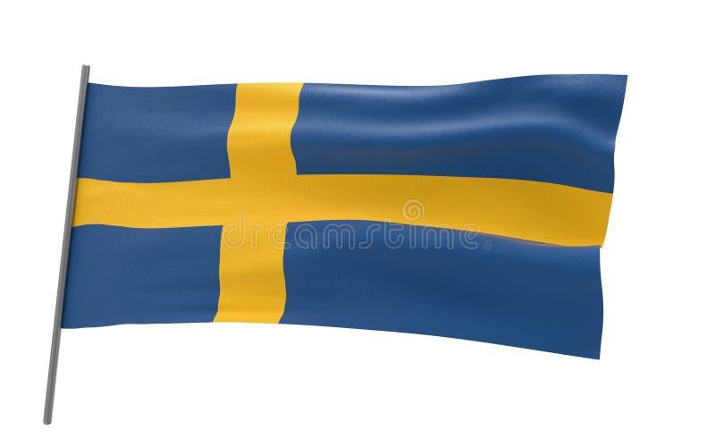Vlag van Zweden vector illustratie