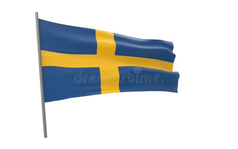 Vlag van Zweden royalty-vrije stock foto