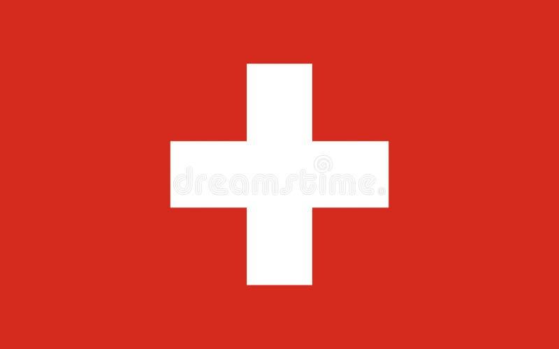 Vlag van Zwitserland royalty-vrije stock foto