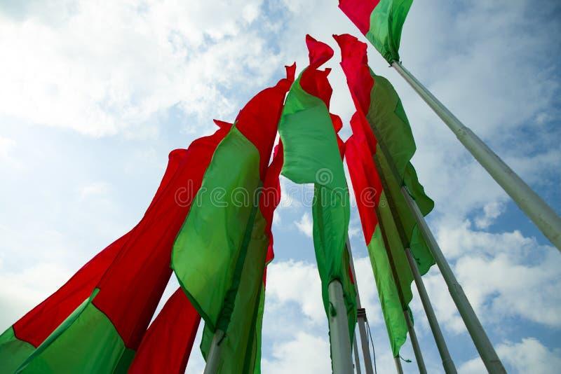 Vlag Wit-Rusland royalty-vrije stock afbeelding