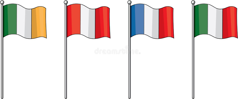 Vlaggen vector illustratie