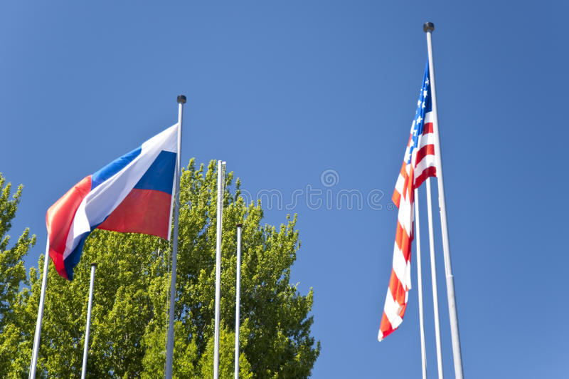Vlaggen royalty-vrije stock afbeelding