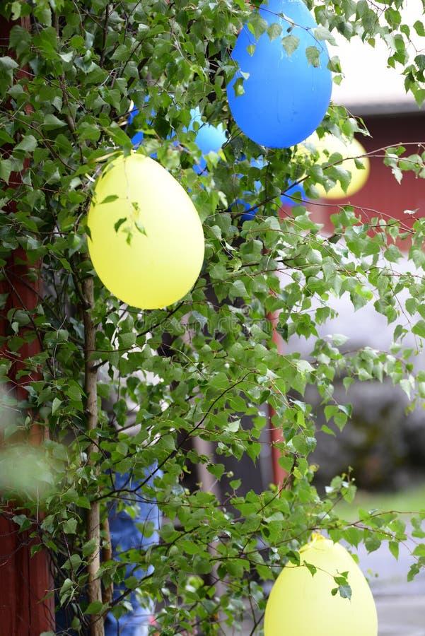 Vlaggen en kleuren van de Zweedse vlag stock afbeelding