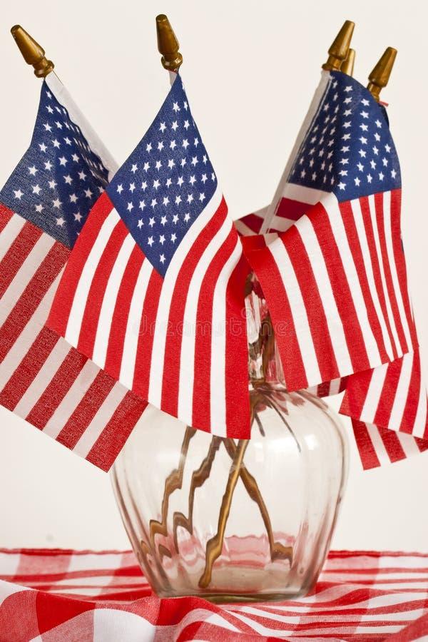 Vlaggen en tafelkleed royalty-vrije stock afbeeldingen