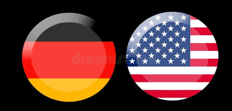 Vlaggen met de relaties van het land stock fotografie