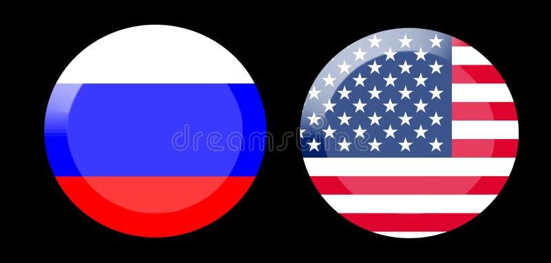 Vlaggen met de relaties van het land stock foto
