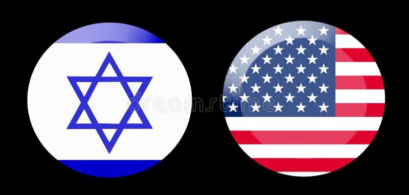 Vlaggen met de relaties van het land stock foto's