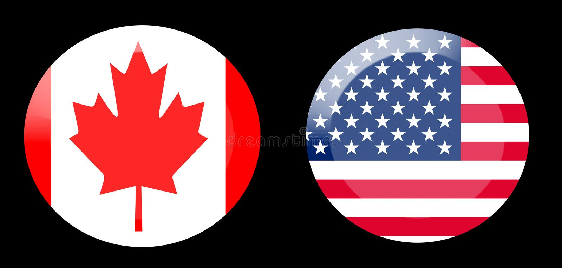 Vlaggen met de relaties van het land stock afbeelding