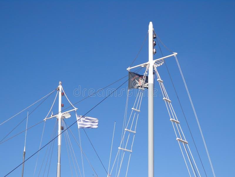 Vlaggen op de masten stock foto's