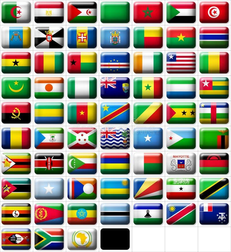 Vlaggen van Afrika vector illustratie