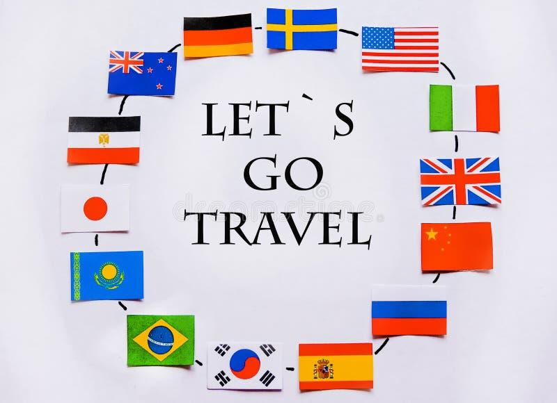 Vlaggen van alle naties van de wereld Groepering van diverse vlaggen van de wereld op wit Internationale Dag van Vrede stock afbeelding