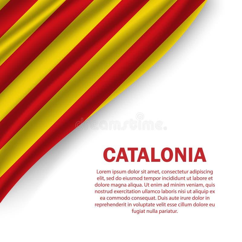 vlaggen van Catalonië op witte achtergrond royalty-vrije stock afbeeldingen
