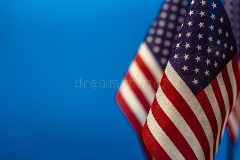 Vlaggen van de Verenigde Staten van Amerika stock afbeelding