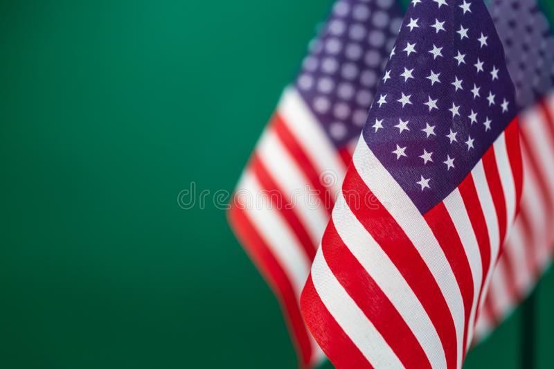 Vlaggen van de Verenigde Staten van Amerika stock foto's