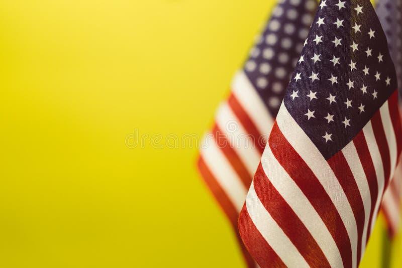 Vlaggen van de Verenigde Staten van Amerika stock afbeeldingen