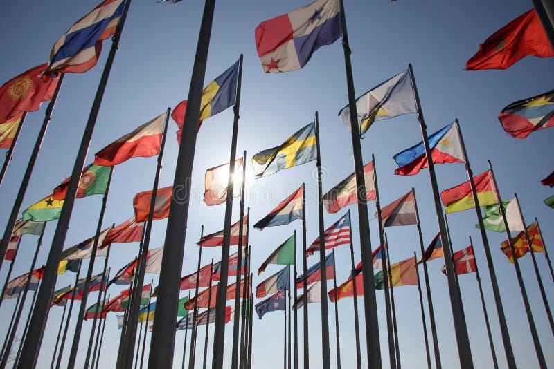 Vlaggen van de wereld royalty-vrije stock foto's