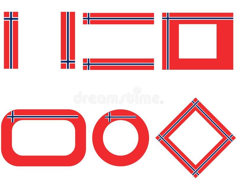 Vlaggen van Noorwegen met exemplaarruimte vector illustratie