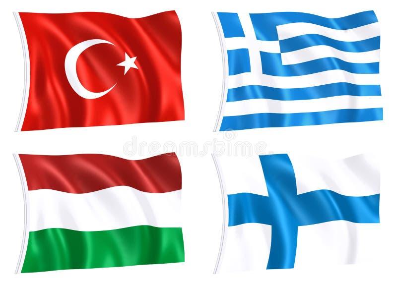 Vlaggen van Wereld 03 vector illustratie