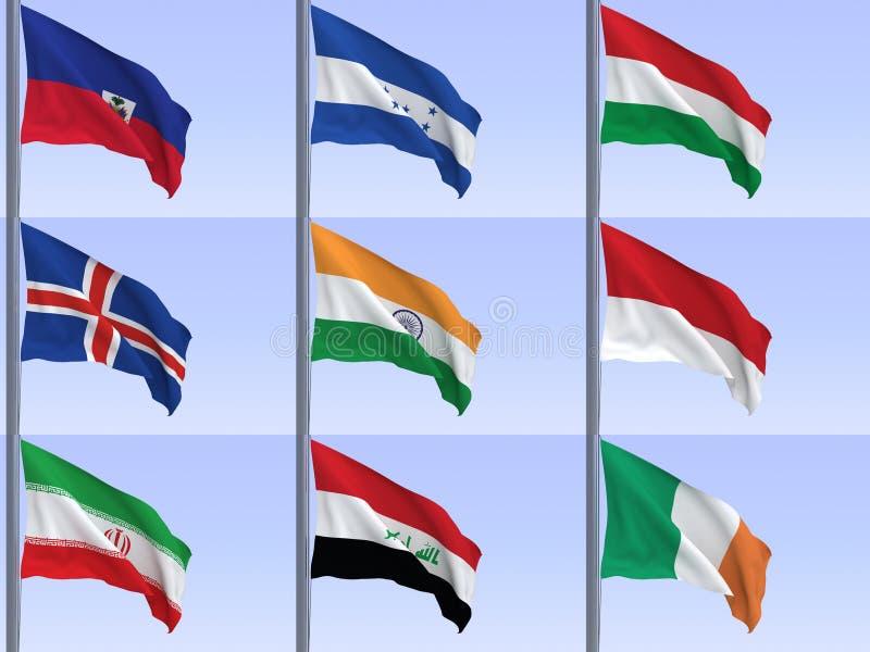 Vlaggen vol12 stock illustratie