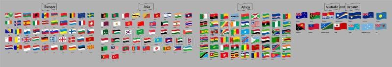 Vlaggenvector van de wereld royalty-vrije illustratie