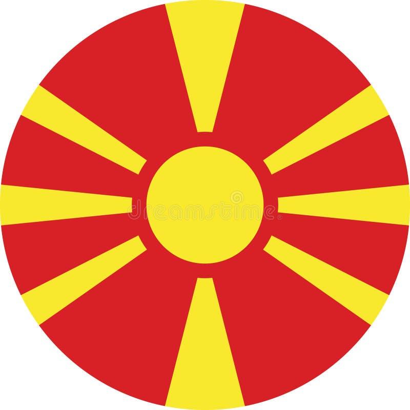 Vlagillustratie vectoreps de Noord- van Macedonië royalty-vrije illustratie