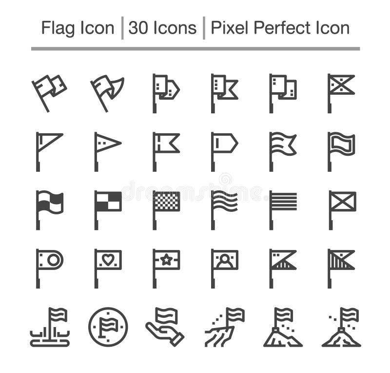 Vlagpictogram vector illustratie