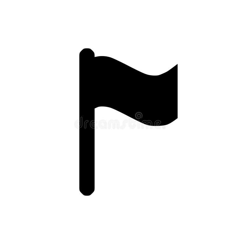 Vlagpictogram, embleemontwerpsjabloon stock illustratie