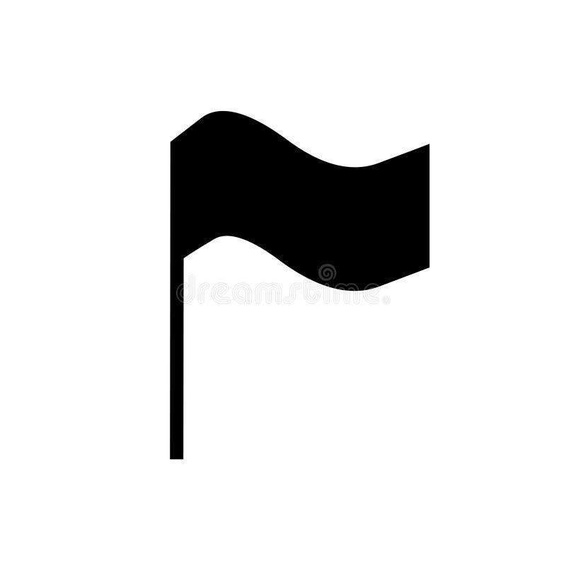 Vlagpictogram, embleemontwerpsjabloon vector illustratie