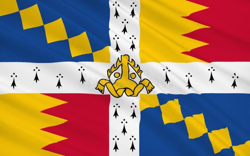 Vlagstad van Birmingham, Engeland royalty-vrije illustratie