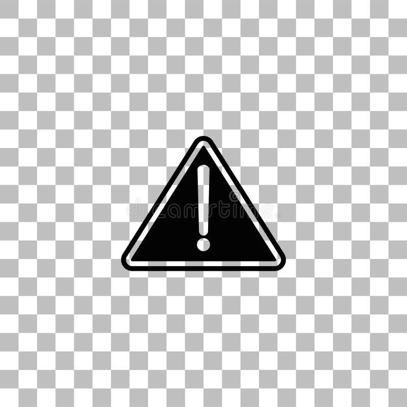 Vlak aandachtspictogram vector illustratie