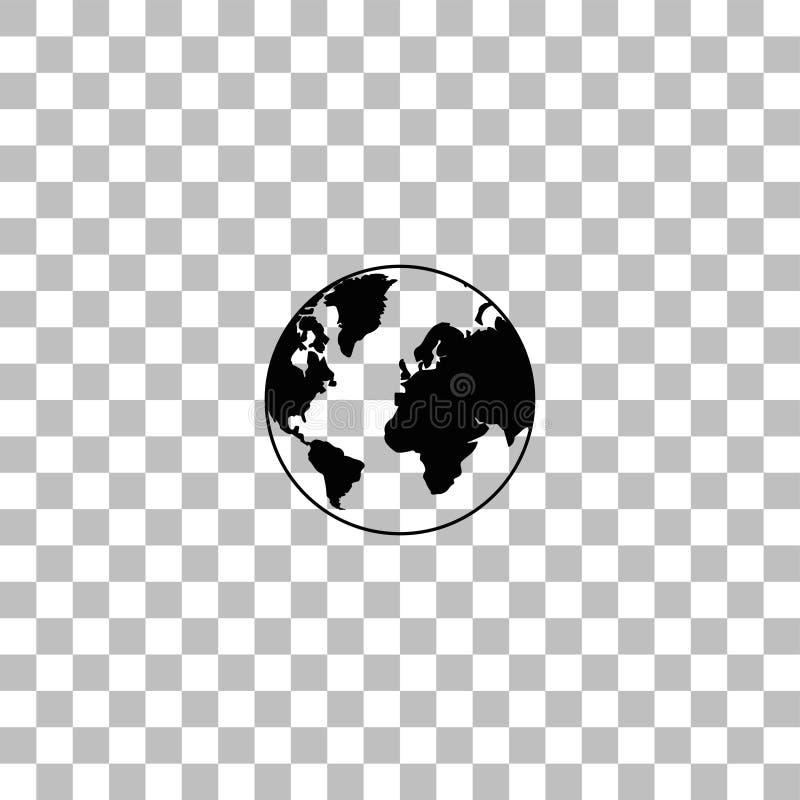 Vlak aardepictogram stock illustratie