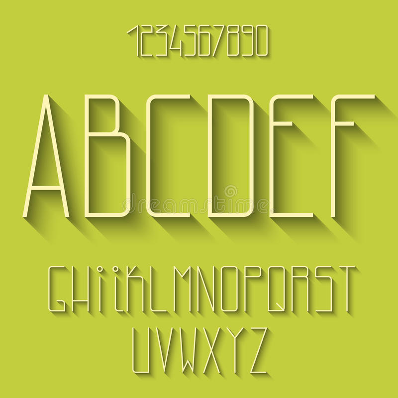 Vlak alfabet stock illustratie