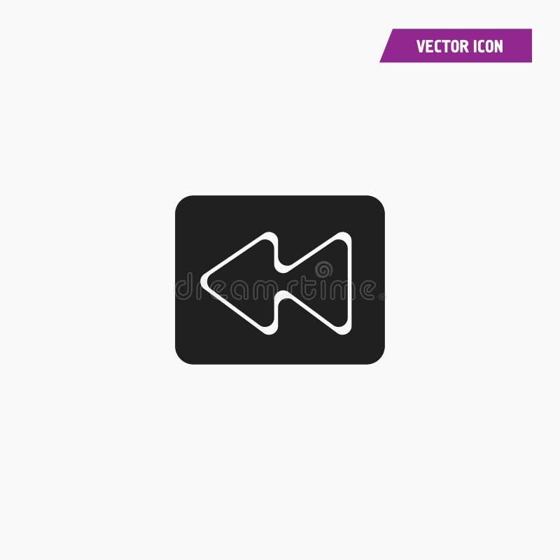 Vlak audio, video, media snel achterwaarts Pictogram stock illustratie