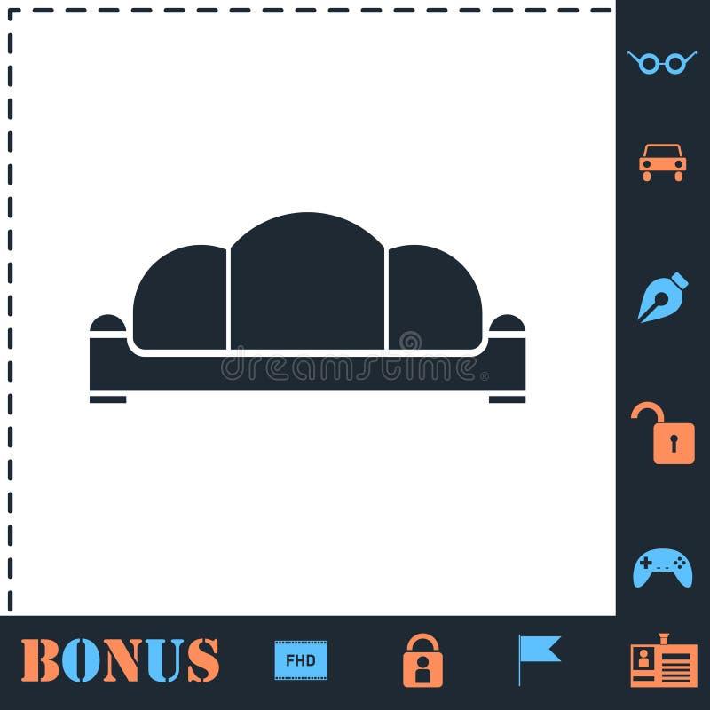 Vlak bankpictogram royalty-vrije illustratie