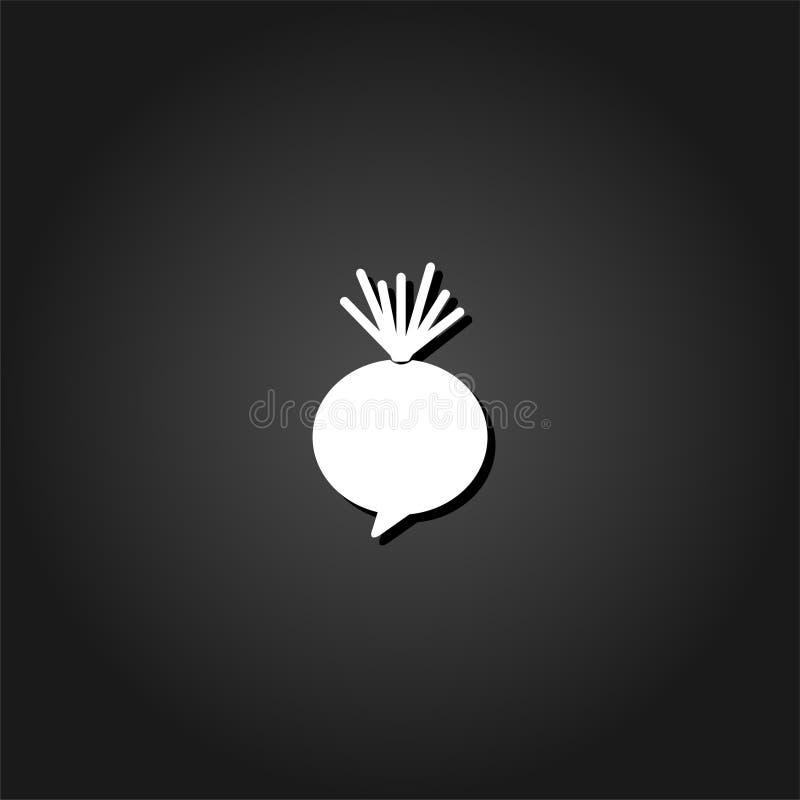 Vlak bietenpictogram vector illustratie