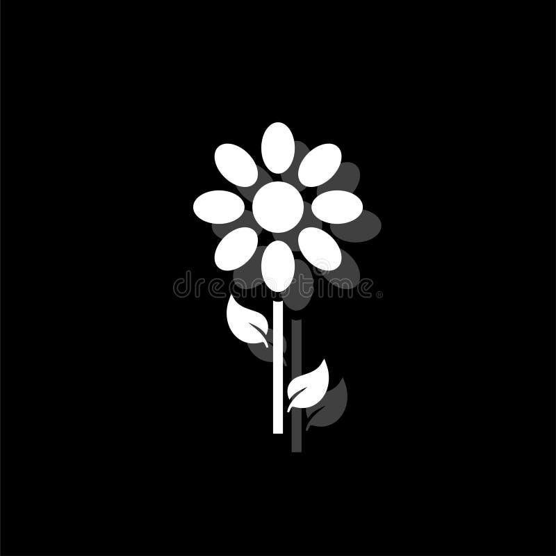 Vlak bloempictogram vector illustratie
