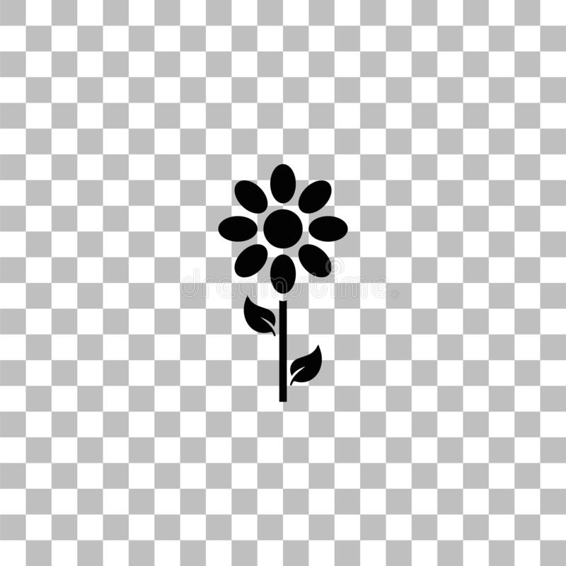 Vlak bloempictogram royalty-vrije illustratie