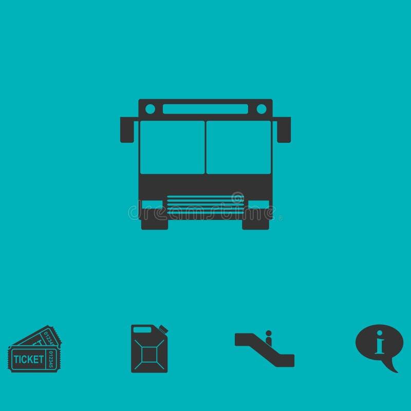 Vlak buspictogram stock illustratie