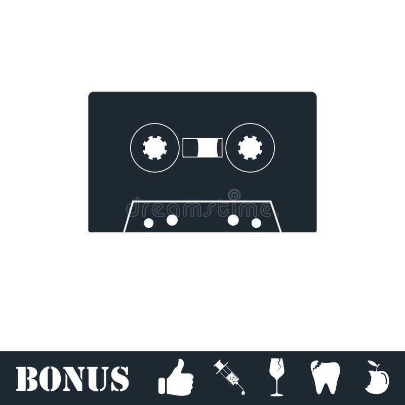 Vlak cassettepictogram stock illustratie