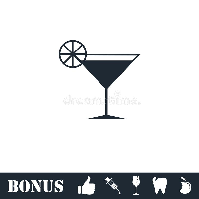 Vlak cocktailpictogram vector illustratie