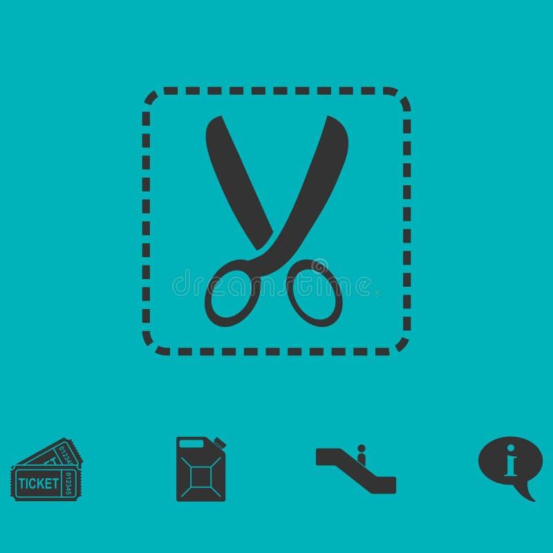 Vlak coupon scherp pictogram royalty-vrije illustratie