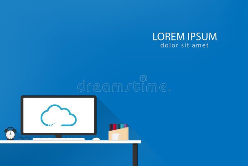 Vlak creatief ontwerp voor het malplaatje van de Webbanner stock fotografie