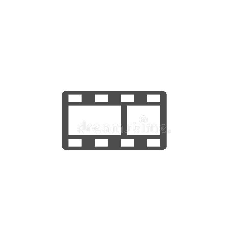 Vlak de filmpictogram van de ontwerp vectorfilm Pictogram het bekijken films - film vector illustratie