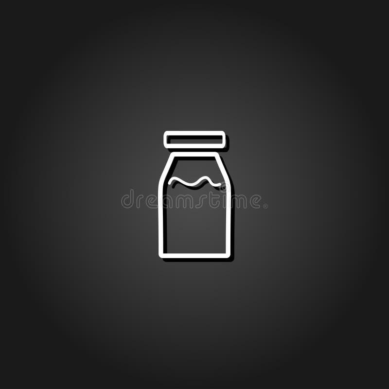 Vlak de flessenpictogram van de geneeskundelijn royalty-vrije illustratie
