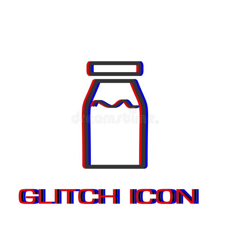 Vlak de flessenpictogram van de geneeskundelijn vector illustratie