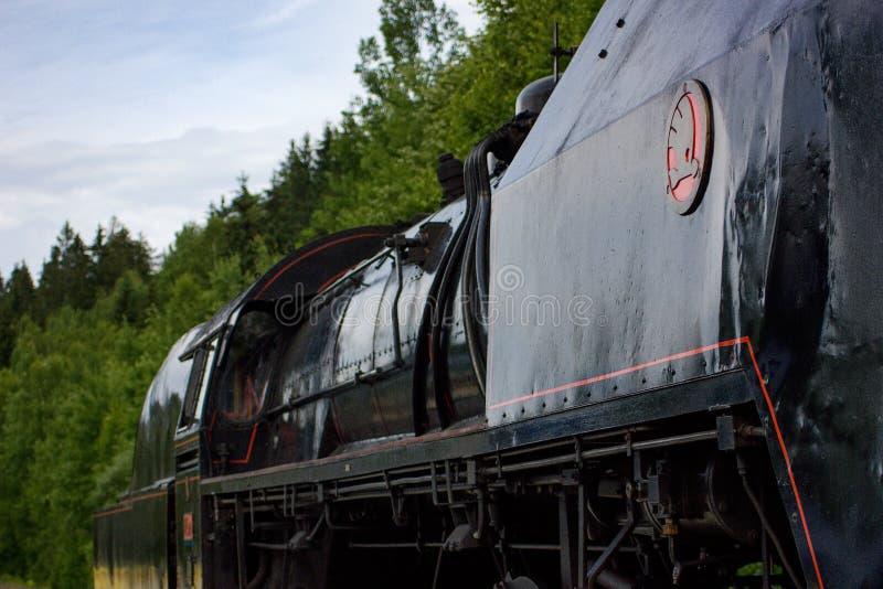 Vlak de lokomotiva de parní de train de vapeur photo libre de droits