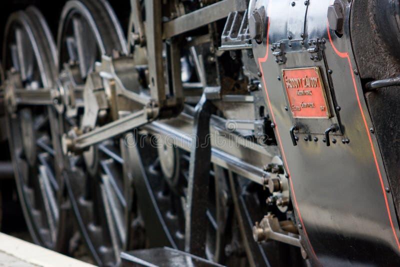 Vlak de lokomotiva de parni de train de vapeur photos libres de droits